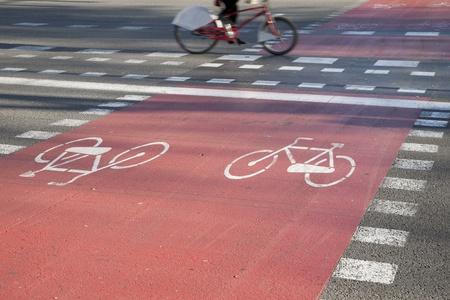 Cycle Lane in Barcelona, Spain Stock Photo - 8745894
