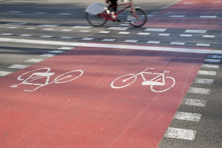 Cycle Lane in Barcelona, Spain Stock Photo - 8745894