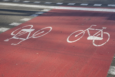 Bicycle Path in Barcelona, Spain Stock Photo - 8745908