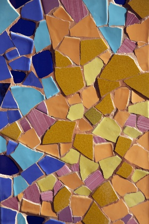 Colorful Mosaic Design on Shop Front in Barcelona