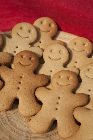 Gingerbread Men on sale on Market Stall Stock Photo