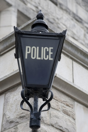 Tradtional Police Sign in England, UK