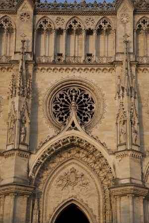 sante: Facade of Sante Croix Cathedral, Orleans, France