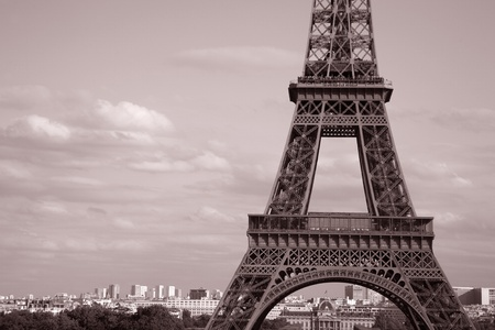 Mid Section of the Eiffel Tower, Paris, France