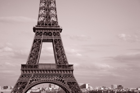 Middle Section of the Eiffel Tower, Paris, France photo