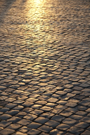 Sunlight on Cobbled Stones