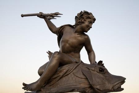 alexandre: Figure on Pont Alexandre III Bridge, Paris, France