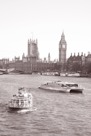 Westminster Bridge and the Houses of Parliament with Big Ben, London photo