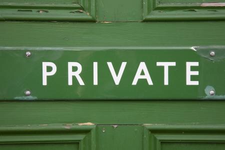 puerta verde: Ingresar privado en Green Door Foto de archivo
