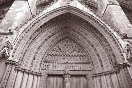 Westminster Abbey; London in Black and White Sepia Tone photo