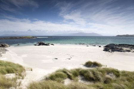 Traigh Ban Nam Monach - White Strand of the Monks - Beach, Iona, Scotland Stock Photo