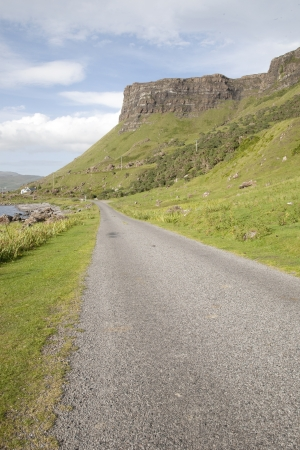 mull: Empty Road; Isle of Mull; Scotland; UK Stock Photo