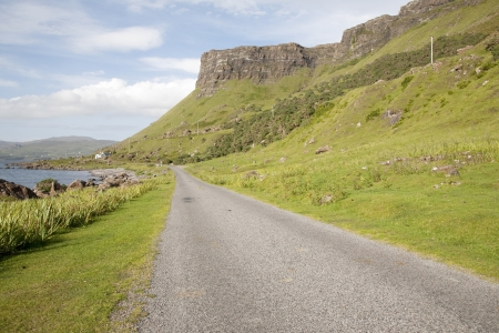 Mull: Empty Road; Isle of Mull; Scotland; UK Stock Photo