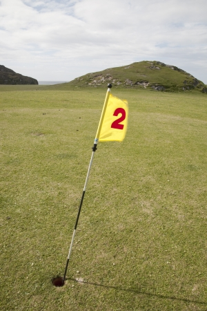 seeting: Number Two Golf Hole in Rural Seeting by Sea