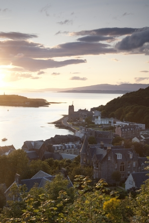 Mull: View from Oban Folly, Scotland, UK Stock Photo