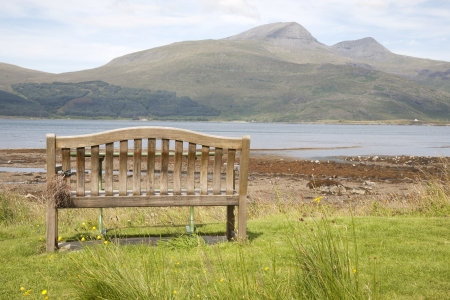 mull: Bench on Landscape, Isle of Mull, Scotland, UK