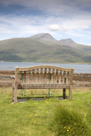 mull: Bench and Landscape; Isle of Mull; Scotland, UK