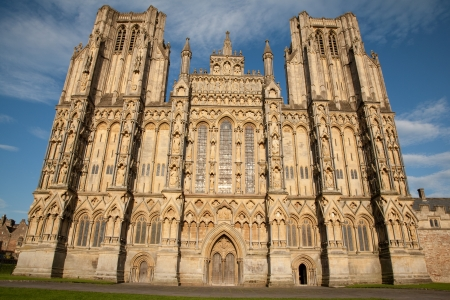 wells: Wells Cathedral Church, England, UK