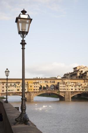 Ponte Vecchio Bridge and the River Arno, Florence, Italy Stock Photo