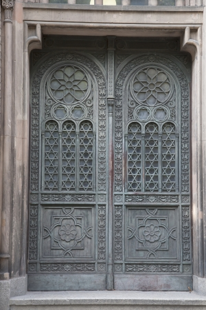synagoge: Entrance Door of Neue Synagoge, Berlin, Germany Stock Photo