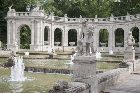 Marchenbrunnen Fairy Tale Fountain (1913) in the Volkspark Friedrichshain Park, Berlin, Germany