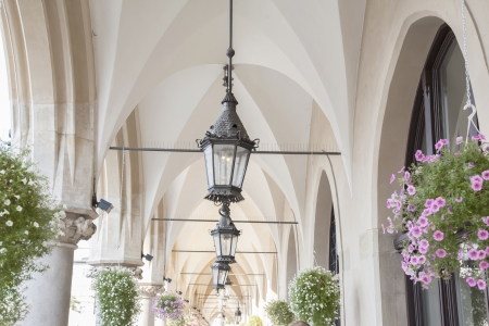cloth halls: Lamp on Cloth Hall in Krakow, Poland Stock Photo