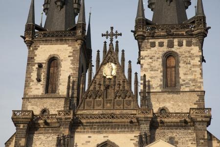 tyn: Church of Our Lady before Tyn, Prague; Czech Republic; Europe Stock Photo