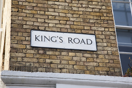 Kings Road Street Sign; Chelsea; London; England; UK Stock Photo