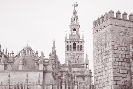 sevilla: Sevilla Cathedral Church, Spain Stock Photo