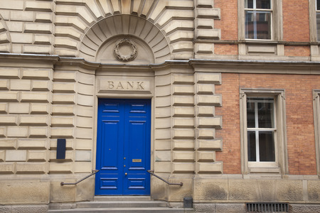bank branch: Closeup of Bank Branch Entrance