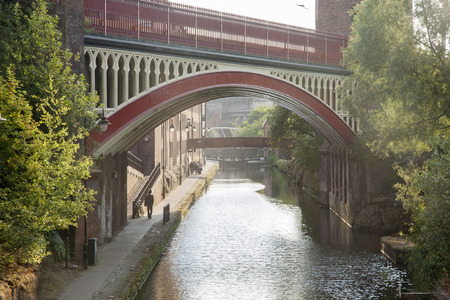 Rochdale Canal, Deansgate, Manchester, England, UK Stock Photo