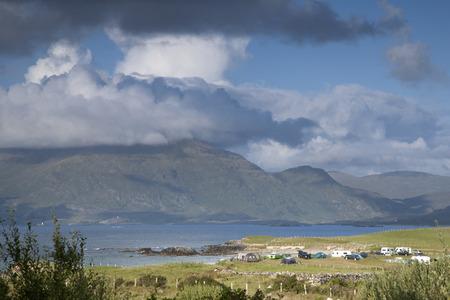 connemara: Camping, Caravan, Coast at Tully Cross, Connemara National Park, County Galway, Ireland