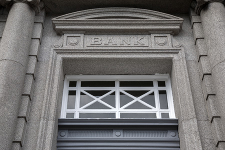 Bank Sign on Building Facade