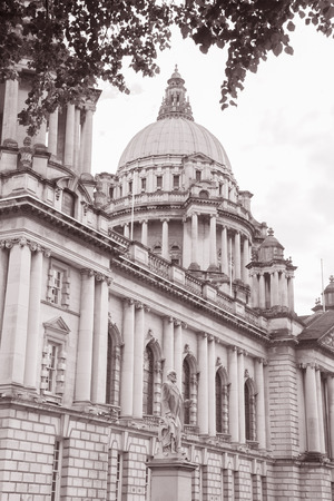 northern ireland: City Hall, Belfast (1906), Northern Ireland in Black and White Sepia Tone