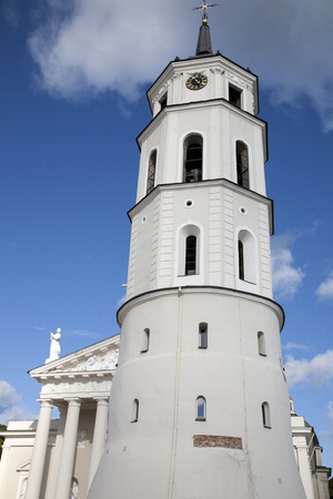 vilnius: Cathedral and Belfry - Bell Tower, Vilnius Stock Photo
