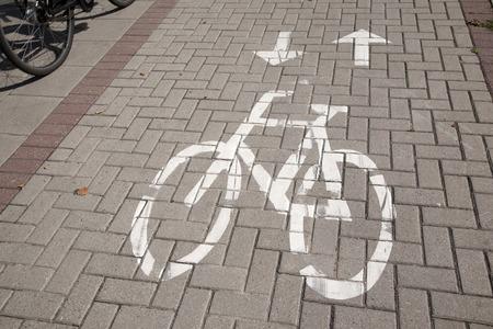 slant: Bicycle Lane Sign