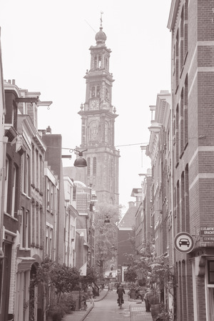 neighbourhood: Jordan Neighbourhood, Amsterdam in Black and White Sepia Tone Editorial