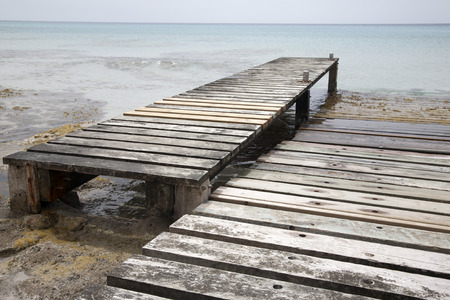 formentera: Pier and Jetty, Valencians Beach; Formentera; Balearic Islands; Spain