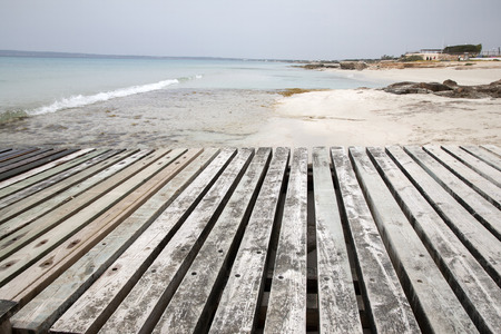 formentera: Valencians Beach; Formentera; Balearic Islands; Spain Stock Photo