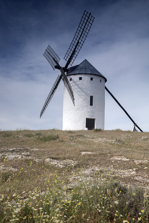 castilla: Windmill; Campo de Criptana; Castilla La Mancha; Spain Stock Photo