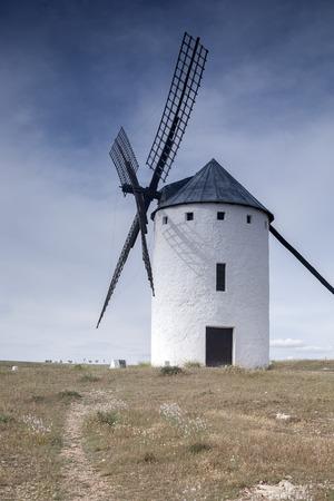 castilla la mancha: Windmill; Campo de Criptana; Castilla La Mancha; Spain Stock Photo
