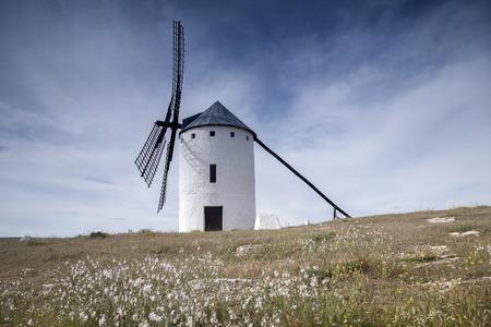 campo: Windmill; Campo de Criptana; Castilla La Mancha; Spain Stock Photo