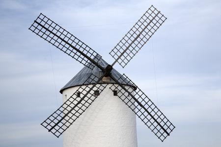 mancha: Windmill; Campo de Criptana; Castilla La Mancha; Spain Stock Photo