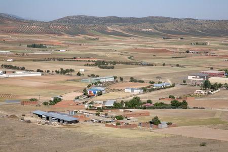 spanish landscapes: View from Consuegra; Toledo, Castilla La Mancha; Spain