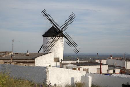 castilla la mancha: Windmill, Campo de Criptana; Castilla La Mancha; Spain Stock Photo