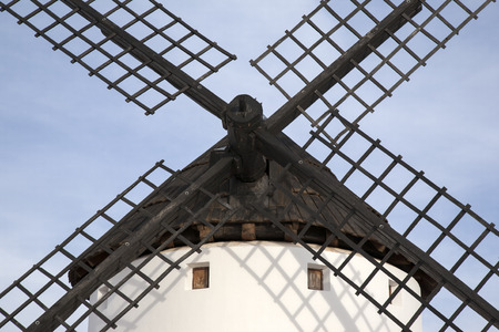 castilla: Windmill, Campo de Criptana; Castilla La Mancha; Spain Stock Photo