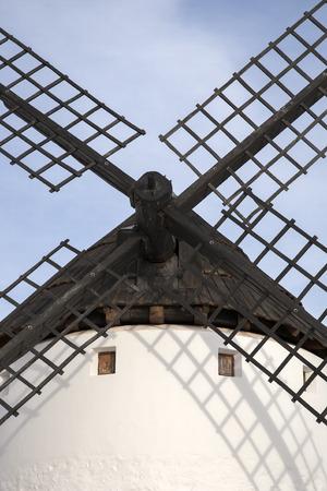 campo: Windmill, Campo de Criptana; Castilla La Mancha; Spain Stock Photo