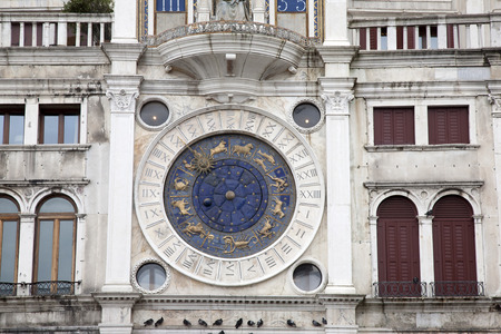 marcos: Torre dell Orologio - Clock Tower, Venice, Italy Stock Photo