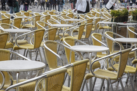 st  mark's square: Cafe Tables and Chairs in San Marcos - St Marks Square, Venice, Italy