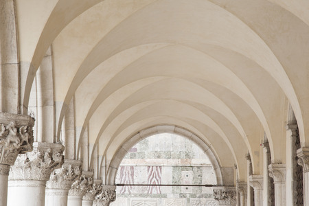 marcos: Arches in San Marcos Square, Venice, Italy Stock Photo